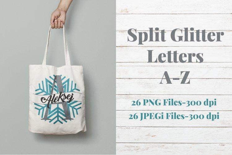Split Letters  Monogram   Glitter Alphabet Letters A-Z