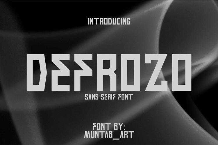 Defrozo   Block Font example image 1