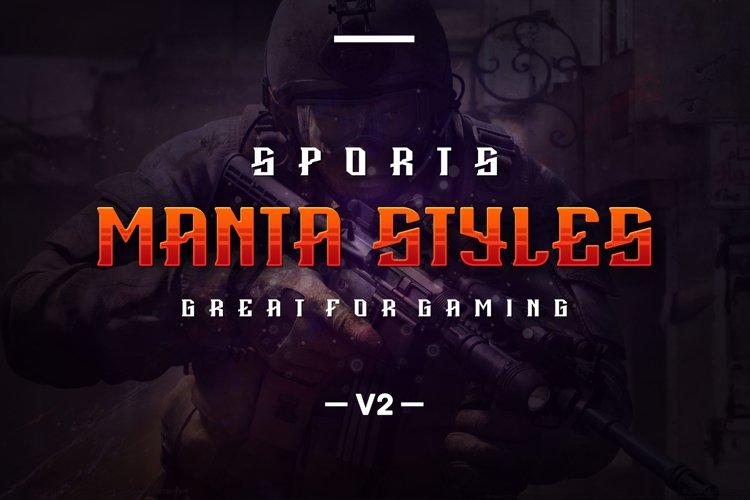 Manta Styles V2 font example image 1