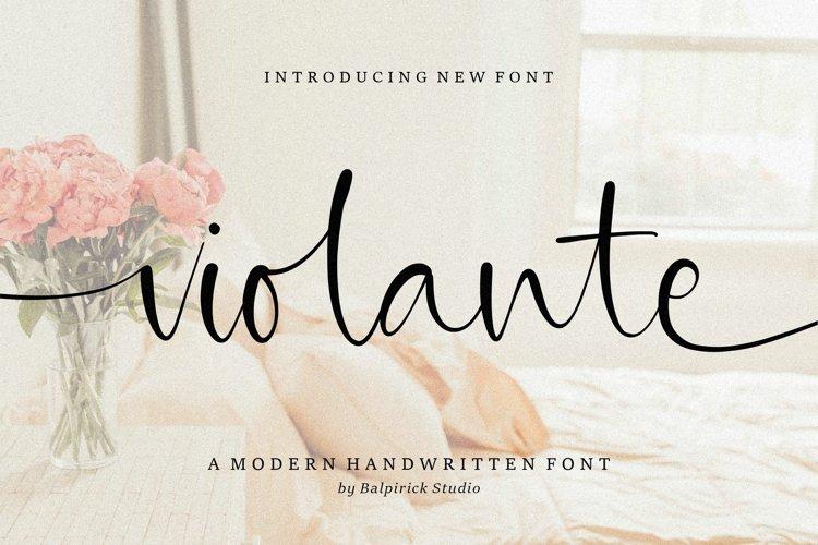 Violante Modern Handwritten Font