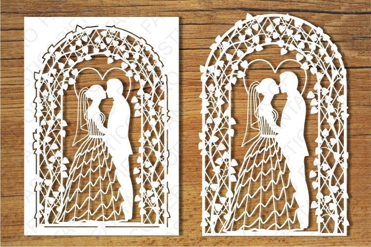 Wedding card 2 SVG files for Silhouette Cameo and Cricut.