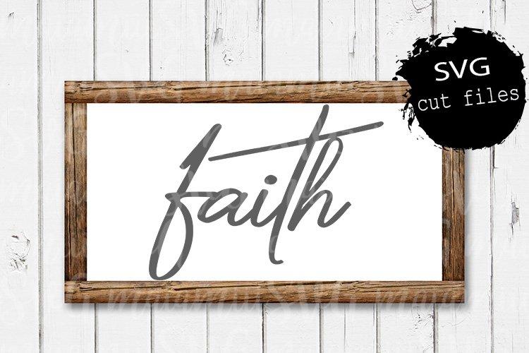 Faith Svg, Faith Over Fear Svg, Faith Cross, Religion Svg example image 1
