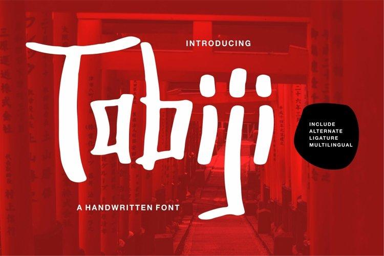 Tabiji - A Handwritten Font example image 1