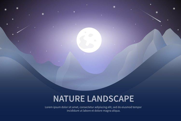 Mountain landscape set
