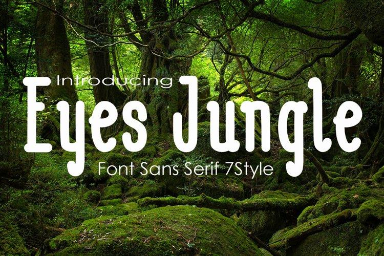Eyes Jugle Family Font example image 1