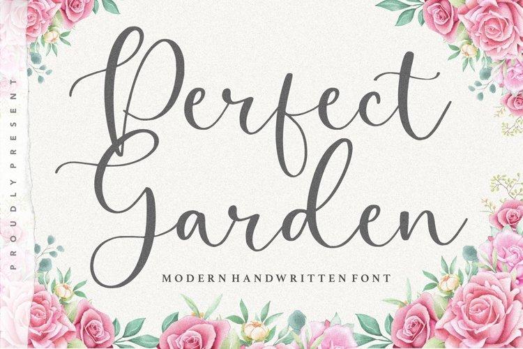 Perfect Garden Modern Handwritten Font example image 1