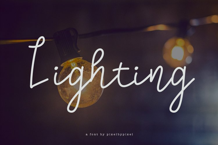 Lighting Script Font example image 1