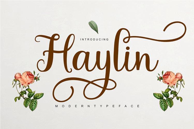 Haylin Script example image 1