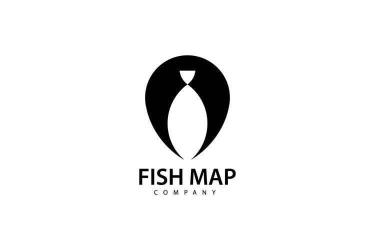 Fish Map Logo example image 1