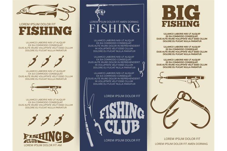 Fishing brochure or banners example image 1