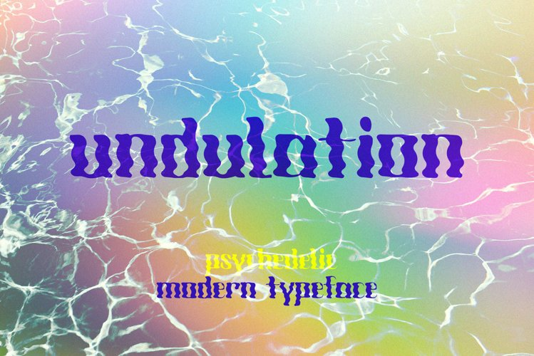 Undulation. Psychedelic Modern Typeface example image 1
