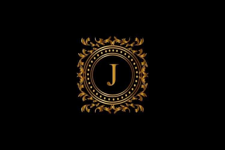 Vintage monograms J letter logo. corporate logo