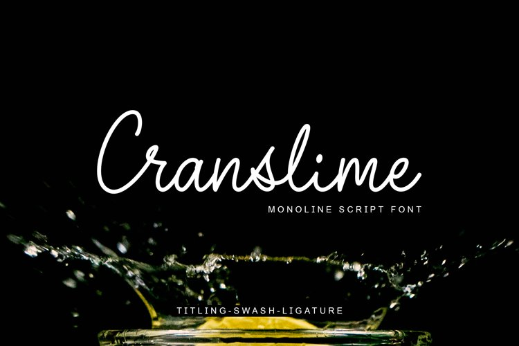 Cranslime - Script Font