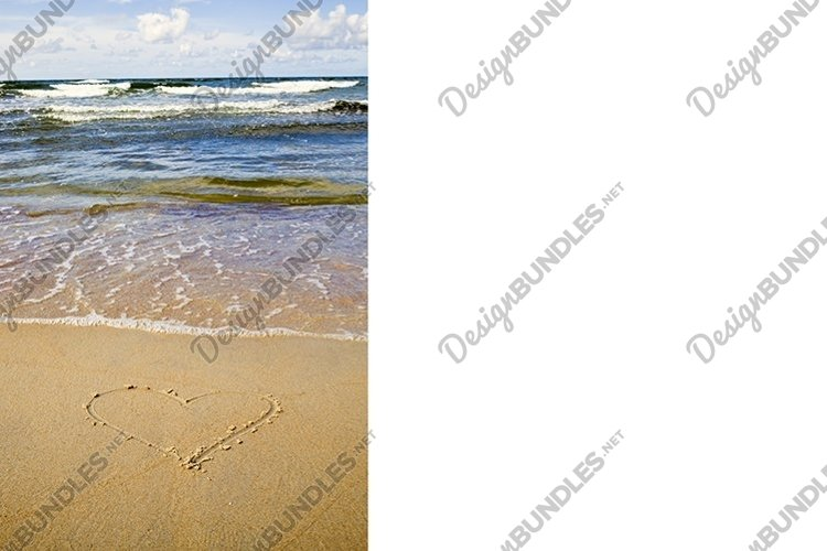 one heart drawn on the sand example image 1