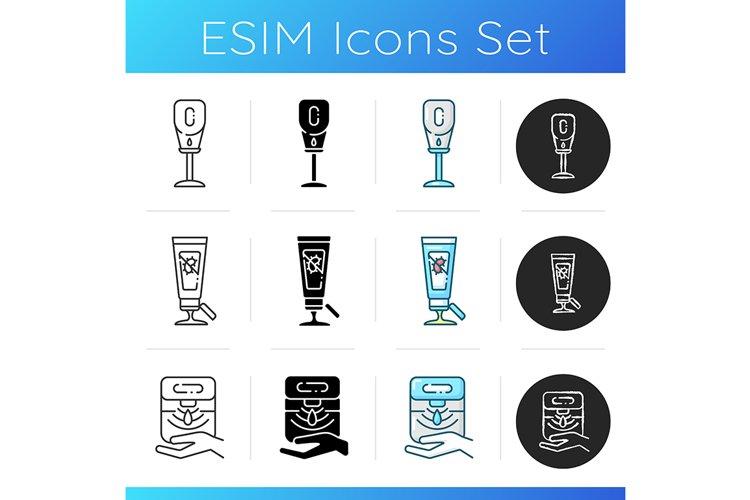 Sanitizers icons set example image 1