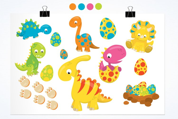 Dinosaur Babies graphics and illustrations - Free Design of The Week Design0