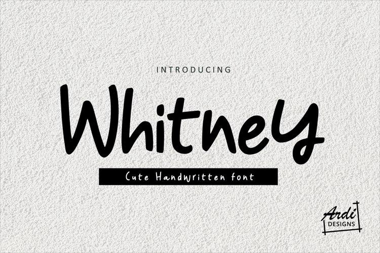Whitney Font example image 1