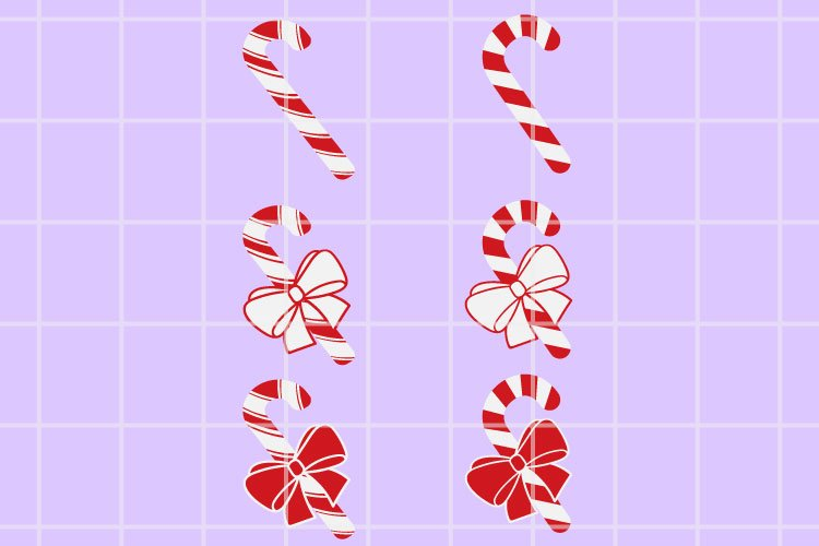 Christmas candy SVG. Candy cut files. Christmas cutting set. example image 1