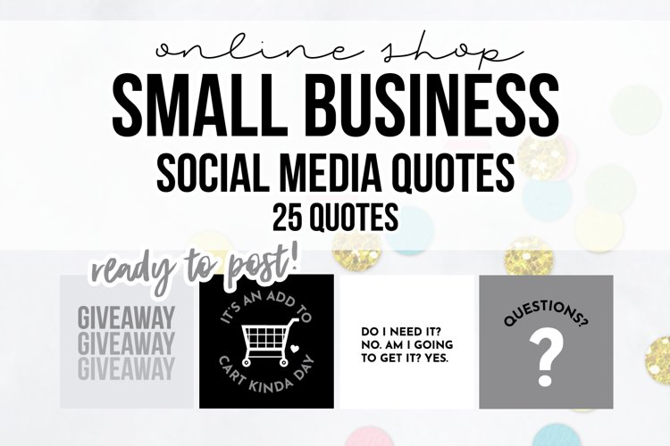 25 x Grey, Black & White Online Business Social Media Quotes example image 1