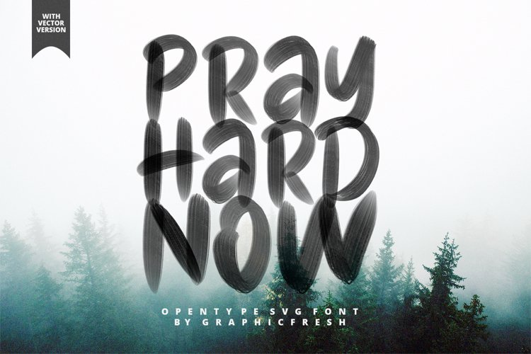 Pray Hard Now - 30 OFF - SVG Font example image 1