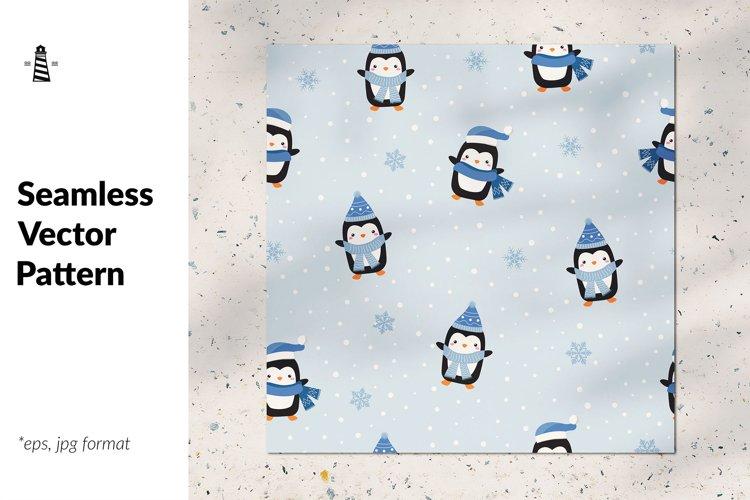 Penguin seamless pattern example image 1