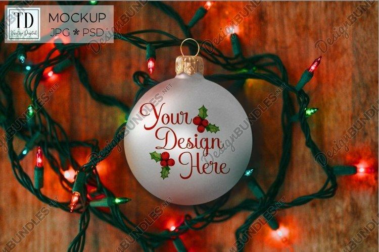 Christmas Ball Ornament Mockup, A Bauble Mock-Up, PSD & JPG example image 1