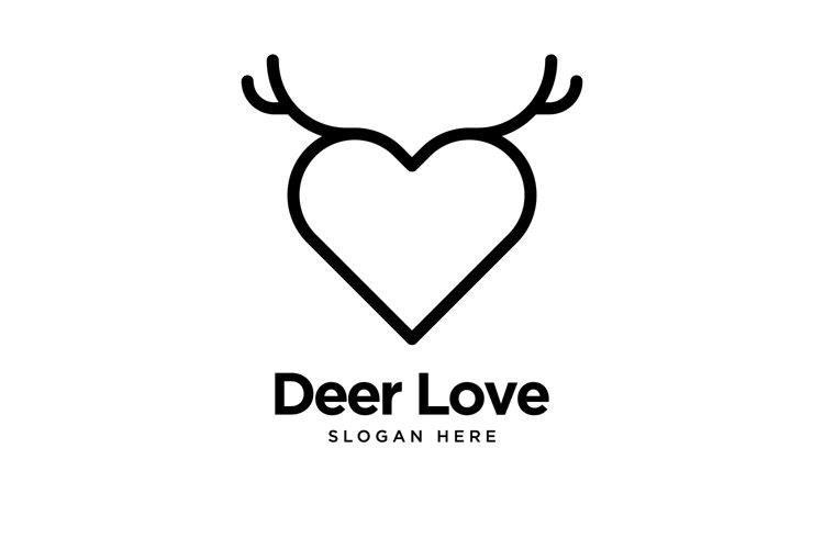 Deer Love Logo example image 1
