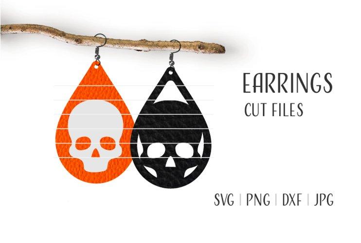 Skull Earrings Svg, Earrings Svg, Halloween Earrings