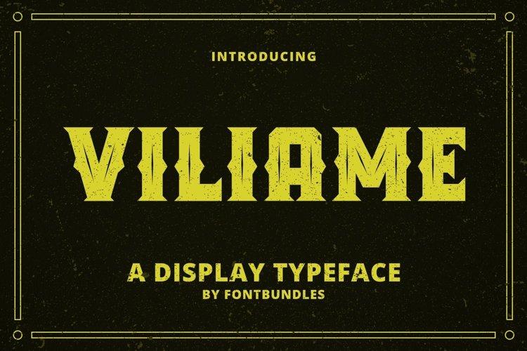 Web Font Viliame