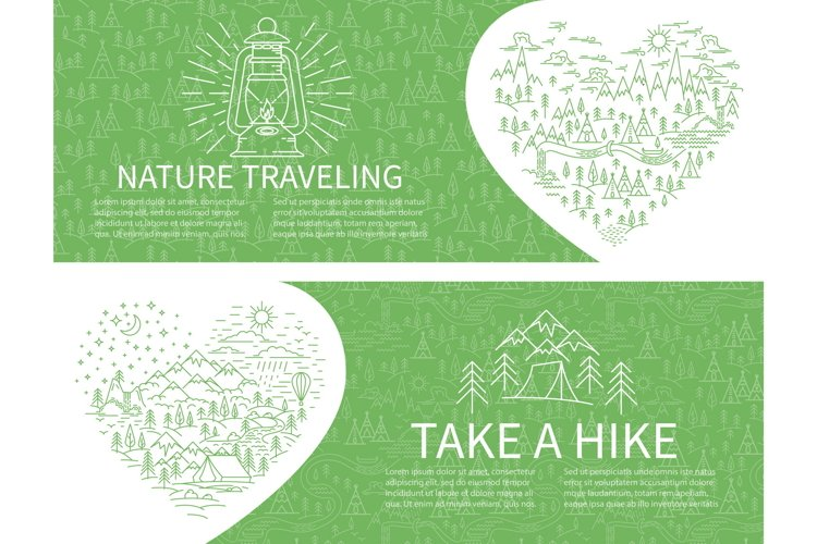 Nature travel horizontal banners example image 1