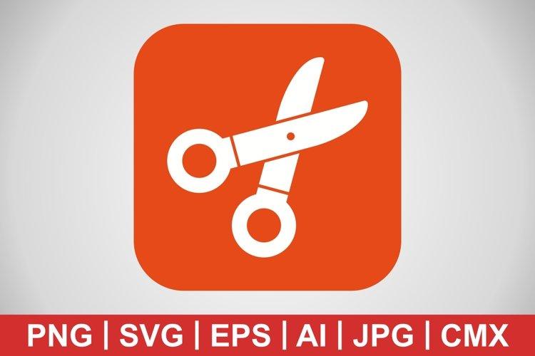 Vector Scissors Icon example image 1