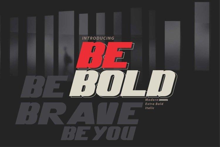 Be Bold italic modern example image 1