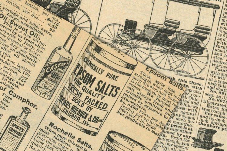 Antique Catalog Pages Digital Paper Ephemera example 2