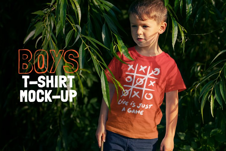 Boys T-shirt Mock-up example image 1
