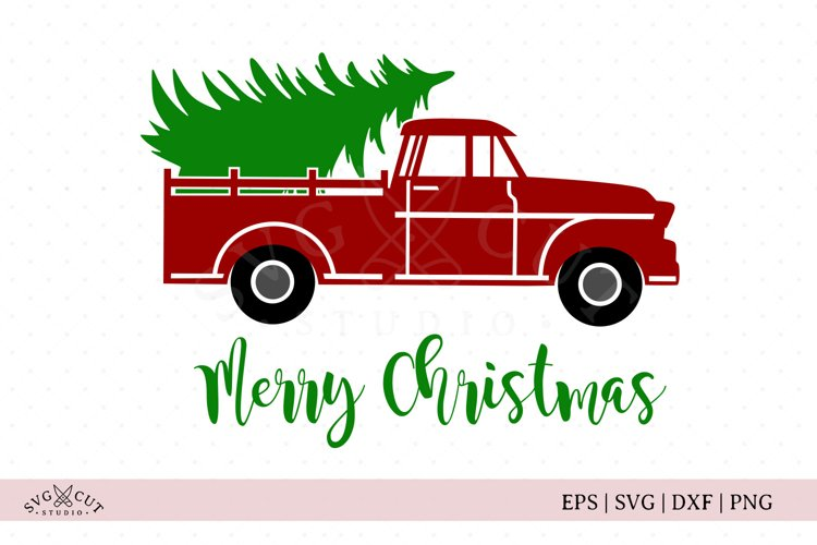 Christmas Tree Truck SVG Cut Files example image 1