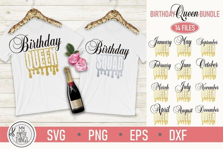 Birthday queen svg | Birthday Squad svg | Womens birthday