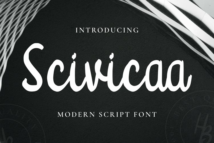 Web Font Scivicaa Font example image 1