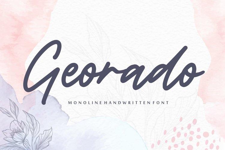 Georado Monoline Handwritten Font example image 1