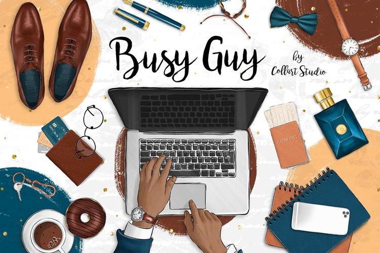 Men planner clipart, businessman clipart, gentleman example image 1