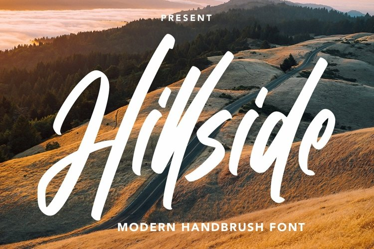 Web Font Hillside - Modern Handbrush Font example image 1