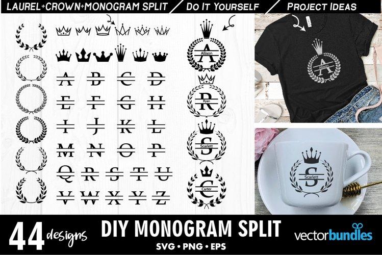 Best Seller Monogram svg maker with split text example image 1