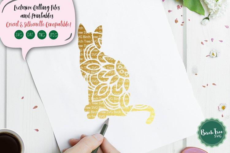Cat Mandala Svg, Cat Svg Cut File, Cat Lover Svg, Cat Decal
