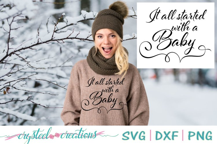 It all started with a Baby SVG, DXF, PNG example image 1