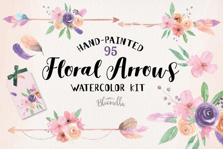 Floral Arrow Creator Kit Watercolor Flowers Boho Package Kit