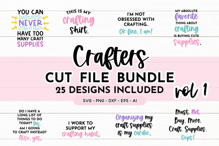 Funny Crafters Quote SVG Bundle Volume 1 | Crafting Quotes