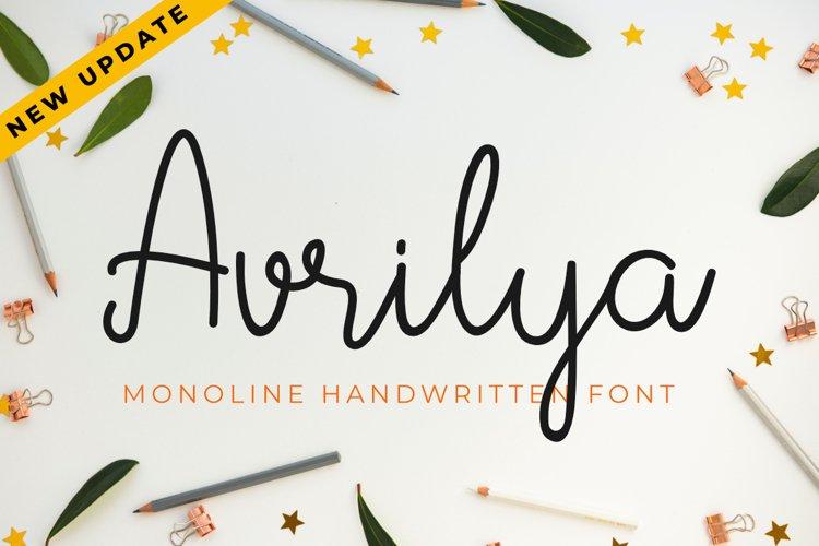 Avrilya | A Monoline Handwritten Script Font