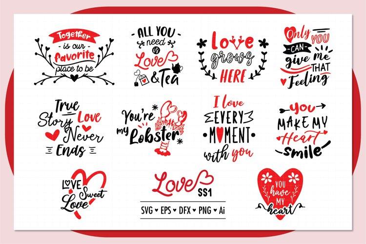 Love ss1 SVG Bundle , Valentine SVG Bundle example image 1