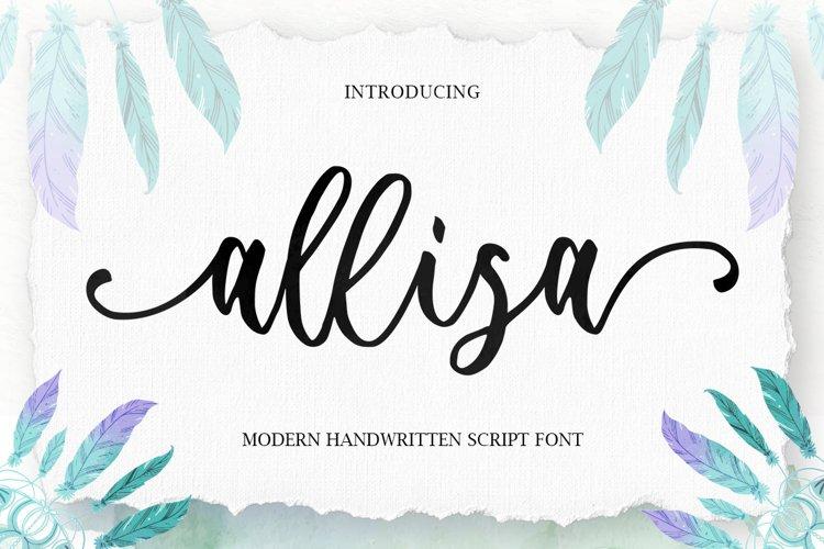 Allisa Script example image 1