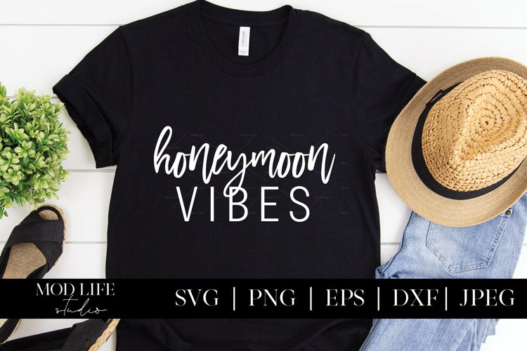 Honeymoon Vibes SVG Cut File - SVG PNG JPEG DXF EPS
