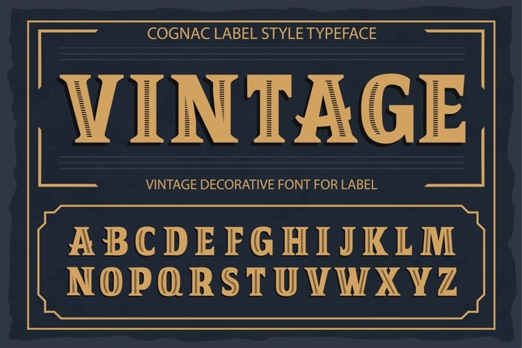 Vintage OTF vintage label font. Uppercase only! example image 1